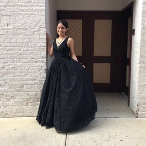 Beautiful, black prom/ formal wear dress.